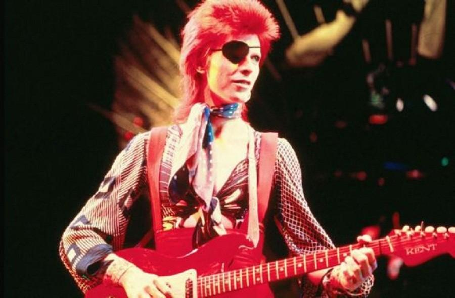 David Bowie in the era of glam rock.