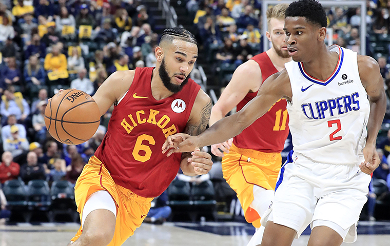 INDIANAPOLIS, INDIANA - FEBRUARY 07:   Cory Joseph #6 of the Indiana Pacers dribbles the ball against the Los Angeles Clippers at Bankers Life Fieldhouse on February 07, 2019 in Indianapolis, Indiana. (Photo by Andy Lyons/Getty Images)