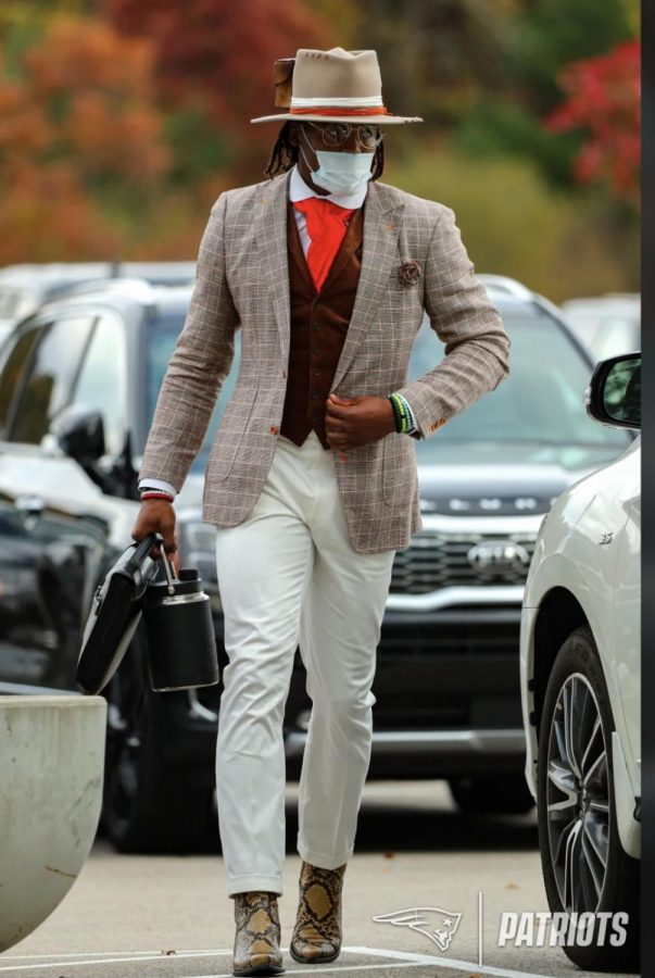 Cam Newton after recovering from Covid-19 Photo Credit: Eric J. Adler
