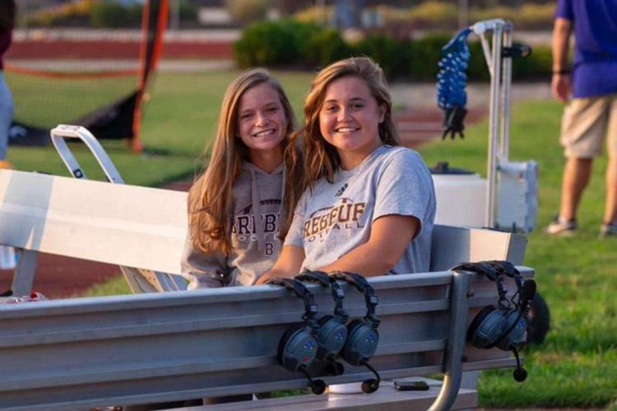Two of our football managers at a game Photo Credit: Liz Dapp