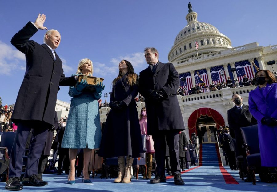 Joe Biden takes the oath of office to become the nation's 46th president.